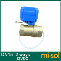 Valve Balls - 1pcs motorized ball valve DN15 way electrical valve