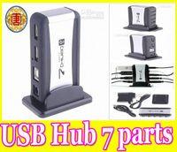 Wholesale USB Port High Speed USB HUB AC Power Adapter Cable UK US EU Plug Optional for Computer