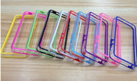 For Apple iPhone   2013 HOT TPU Bumper Frame Metal Button Case Cover for iphone 5C case bumper with in Retail package