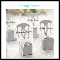 Favor Boxes Gold Paper Hot Selling Chair Candy Boxes New Candy Favors Novelty Wedding Favors Favor holders 50pcs lot Wedding Candy package Theme Party