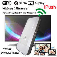 Miracast Dongle   Wifi HDMI Wificast Miracast Dongle 1080P Mirroring iPush Media File to TV for Android, Mac IOS, Windows 7 Free shipping