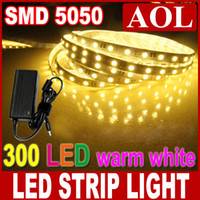 Wholesale High quality M SMD Flexible LED Light Strip Warm White LED M DC12V Non waterproof for decoration power supply A