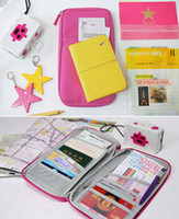 Wholesale Lady Clutch TRAVEL WALLET PASSPORT HOLDER DOCUMENT ORGANIZER Card Bag Purse Color your pick