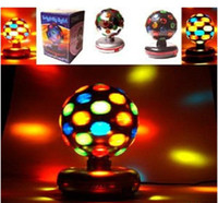 Wholesale 360 Degree Rotating Crystal Ball Stage Lighting V Voltage LED RGB Rotating Lamp For Party Wedding Family Birthday Party Disco DJ