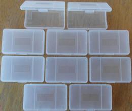 Wholesale Hot Selling Free via Hongkong Post x hard clear plastic cases for Nintendo game boy Advance GBA Games Card Cartridge