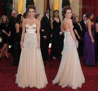 award belts - New Fashion Champagne Sweetheart Belt Sequins A Line Long Tulle Miley Cyrus nd Oscar Awards Celebrity Evening Dresses Prom Celebrity