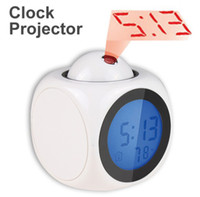 Wholesale Romantic Vibe LCD Talking Projection Alarm Clock Time Digital thermometer backlight LED Display Great for Travel HF52