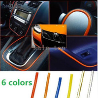 Wholesale 6 Color DIY M Ft Car Automobile Repacking Shining Colors Bling Stripe Wire Home Line Stickers Self Adhensive Soft Decorative