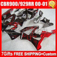 7gifts For HONDA 00 01 CBR929RR red blk CBR 929 929RR 900RR ...