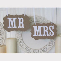 Wholesale Bride amp Groom MR amp MRS Vintage Wedding Signs Banner Photo Booth Props Party Decoration