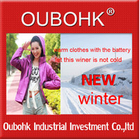 Wholesale thermal clothing fashion Cloth For Women Electric Heated Jacket High Temperature Outdoor Oubohk