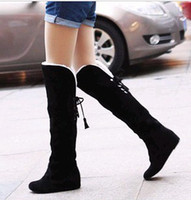 Wholesale New arrival fashion banquet super sweety princess genuine warm wool snow noble big size knee boots EU34