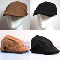 Wholesale Vintage Hot Newsboy Cabbie Flat Golf Adjustable Visor Hat Cap Beret Solid Color
