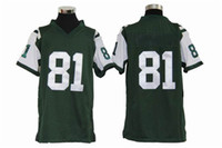 Football Boys Short Green Sportswears American Football No 81 Keller Youth Game Jersey 2013 New Arrival Cheap Jersey Big Apple Team Top kit Uniforms Mix Order
