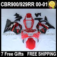 7gifts 100%NEW Red black For HONDA CBR929RR 2000 2001 CBR 92...