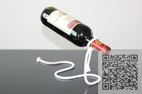 Wholesale Rope Wine Bottle Stand wine rack bottle holder suspending in the air