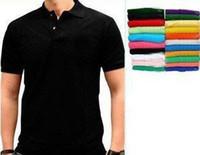 Wholesale Top quality Black Solid Colors Men s Short Sleeve Shirts embroidery T Shirt Size XS XXXXL