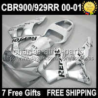 7gifts 100%NEW HOT White silver For HONDA CBR929RR 2000 2001...