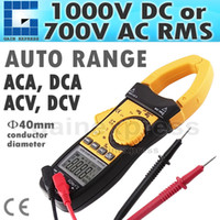 Wholesale CM113 Auto Range Professional Multifunction Digital AC DC Clamp Meter Multimeter Thermometer Ohm counts Data hold Auto Zero