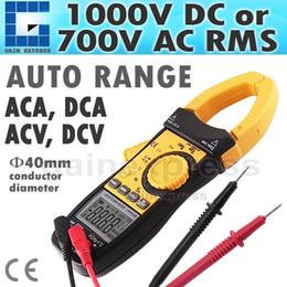 Wholesale CM113 Auto Range Professional Multifunction Digital AC DC Clamp Meter Multimeter Thermometer Ohm counts Data hold Auto Zero