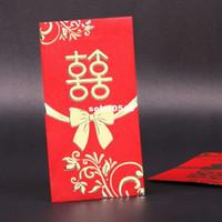 Favor Boxes Pink Paper GAGA ! Free shipping top qunlity wedding red pocket envelope , red envelopes 90mm*167mm , liurenxing01-3