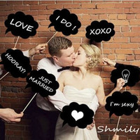 Wholesale Wedding Engagement Photo Booth Props Cloud Speech Bubbles on a Stick Wedding Garland Bridal Shower Favor Party Decoration