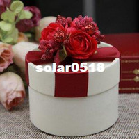 Pink round cardboard gift box - GAGA hand made Flame red round cardboard gift box deliver with finished goods HR03