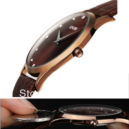 Wholesale Classic Sports Watches - 2016 New Fashion Classic SINOBI Leather Strap Mens Man Fashion Style Quartz Military Slim Wrist Watch ,FREE SHIPPING