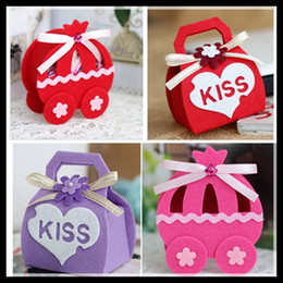 Pumpkin Carriage and Handbag Design Special New Unique Sweetbox New Wedding Candy Favors Favor holders Wedding Candy package For Theme Party