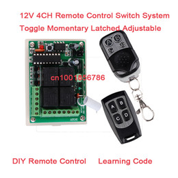 Remote Switch System 12V 4CH(Channel) Wireless Remote Control System Working Way is adjustable 200M F garage door  lamp