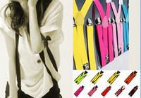 Wholesale 15pcs Mixed Color Belts Girls Costumes Adjustable Suspenders Brace Elastic Pants Y Belt Dance Party Fashion Accessories Both Men Wowen