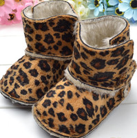 Mid-Calf Cotton Fabric TPR wholesale Help boots baby leopard high boots baby shoes boots ugg boots 6pcs