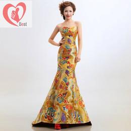 Wholesale Traditional chinese ethnic clothing cheongsam star evening dress women s wedding dress cheongsam