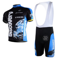 Wholesale 2013 DISCOVERY TEAM TREK BLUE Short Sleeve Cycling Jersey Bike Bicycle Wear BIB Shorts Size XS XL D011