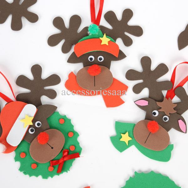 Handmade Foam Christmas Reindeer Hanger Craft Kits Diy