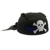 Halloween   Free Shipping High Quality 1 pcs Guarantee100% A++++++ Hot-sales Brand New Halloween masquerade black circular white skull pirate hat 55g