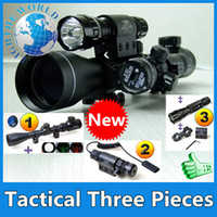 Wholesale 2014 Riflescope Scope for X40 E Rifle Gun Airsoft Hunting Scopes Red Laser B Flash Torch with Laser Sight