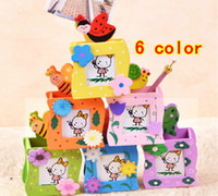Wholesale Multi function Wooden Pen Holder Photo Frame wavy edges insects clip Student Prizes color g