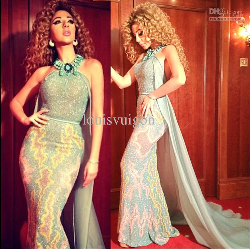 Celebrity Dress Red Carpet Dressese Myriam Fares Off the ...