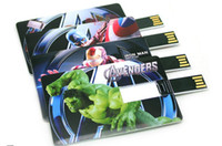 Wholesale hot fashion new Ironman iron man credit card real gb gb gb gb gb usb memory stick pen thumbdrive flash drive stick