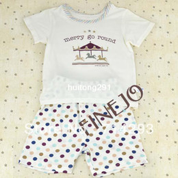 Wholesale Cute Children Clothing Set Pullover Years Old Short Sleeve T Shirt Short Pants Set Clothes