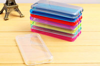 Wholesale TPU Clear Transparent Case For iphone c Rubber Gel Cover Colorful Skin