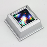 Wholesale Fashion modes mini sliver crystal rotating figurine jewelry LED light display stand base case