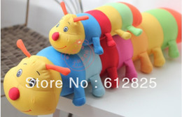 Wholesale Baby Toys Colorful Caterpillars Millennium Bug Doll Plush Toys Large Caterpillar Pillow Doll inch L243