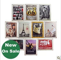Wholesale New Vintage metal painting Mixed orde accept Beer paiting Tin Sign Bar pub home Wall Decor Retro Metal Art Poster