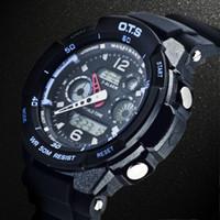 Unisex Analog-Digital Rubber Ots AUDI fashion dual display multifunctional watches mens watch hot
