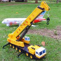 Wholesale White crane big crane engineering car alloy crane car model car toy car
