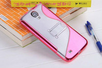 Cheap Silicone soft rubber clear cover Best For Samsung For Christmas stand s line case i9200