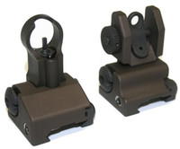 Wholesale Flip Up Front And Rear Folding M16 Flip Up Metal Sights Black Dark Earth Airsoft Accessories
