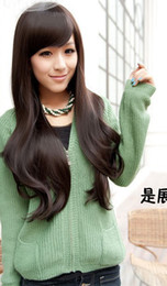 Wholesale Wig Curly Long Synthetic Black hair extension wigs Christmas